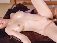 Massage ends with serious hard sex for Kotone Kuroki