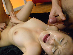 Nasty bukkake with hot cutie Yui Takashiro