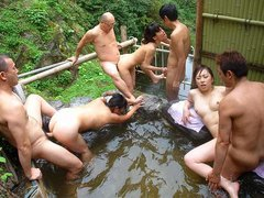Girls like to visit a hot spring quite often